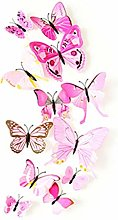 SJEMY Mariposas decorativas 3D para pared (72