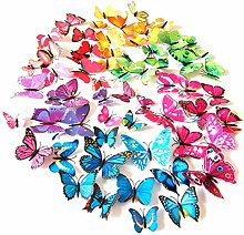 SJEMY Mariposas decorativas 3D para pared,