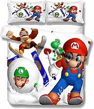 SK-PBB Juego de cama de 3 piezas Mario 3D, para