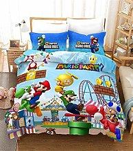 SK-PBB Mario 3D - Juego de cama de 3 piezas, funda