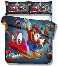 SK-PBB Mario 3D - Juego de ropa de cama (3 piezas,