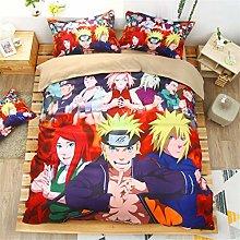 SK-PBB Naruto Anime - Juego de cama infantil con