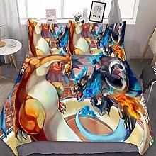 SK-PBB Pikachu - Juego de ropa de cama 3D, diseño