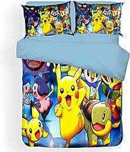SK-PBB Pokemon - Juego de funda de edredón y