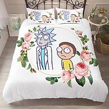 SK-PBB Rick and Morty - Juego de cama infantil