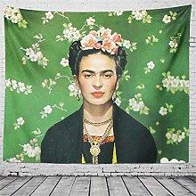 SK-PBB Tapiz de Frida Kahlo y flor, The Smoking