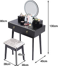 Skecten - Mesa de maquillaje, tocador con 4