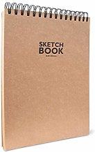 Sketchbook Kraft-Bloc de dibujo con espiral, DIN