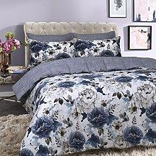 Sleepdown Inky Floral Blue Juego de Funda de
