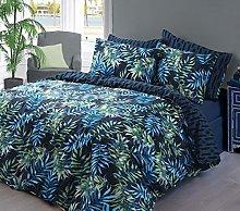 Sleepdown Juego de edredón Doble, algodón, Azul