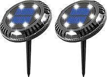 SMEJS 2 uds luz LED subterránea de energía solar