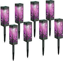 SMEJS 8 piezas de luces solares al aire libre con