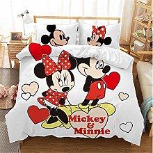 SMNVCKJ Juego de ropa de cama de Mickey Mouse, con