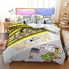 SMNVCKJ Snoopy Juego de ropa de cama con dibujos