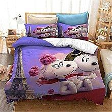 SMNVCKJ Snoopy - Juego de ropa de cama con diseño
