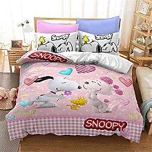 SMNVCKJ Snoopy Juego de ropa de cama con diseño