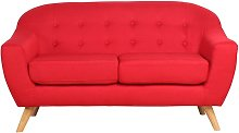 Sofa 2 plazas Marte Color - Rojo