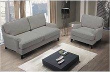 Sofá 2 plazas MOANDA de tela gris