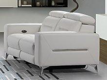 Sofá 2 plazas relax eléctrico PAULY de piel -