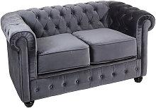 Sofá 2p. chester gris 140x80x72 cm