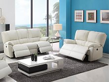 Sofá 3+2 plazas relax eléctrico de piel MARCIS -