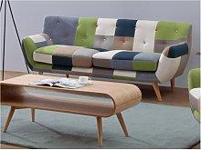 Sofá 3 plazas de tela Patchwork SERTI -Tonos