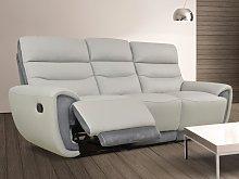 Sofá 3 plazas relax COSMY de piel y con detalles