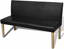 Sofa banco de cuero artificial color marron oscuro