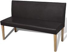 Sofá banco de cuero artificial color marrón