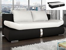 Sofá cama 2 plazas de piel sintética JADEN -