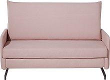 Sofá cama 2 plazas tapizado rosa BELFAST