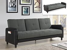 Sofá cama 3 plazas de microfibra y piel