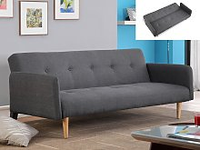 Sofá cama 3 plazas de tela MAURICE - Gris
