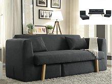Sofá cama 3 plazas modular de tela SINIBA - Gris
