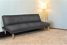 Sofa Cama 3 Plazas, Tapizado En Tela, Color Gris,