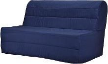 Sofá cama acordeón de tela COWBOY - Azul oscuro