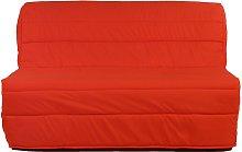 Sofá cama acordeón de tela COWBOY - Rojo coral
