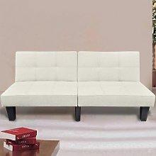 Sofá cama ajustable beige - Beige