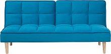 Sofá cama azul SILJAN