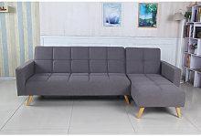 Sofá cama chaise longue Marky gris tela diseño