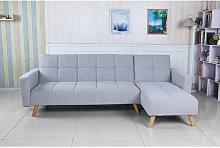 Sofá cama chaise longue Markygris claro diseño