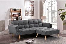 Sofá-cama chaise-longue NEW MARIA gris oscuro 3