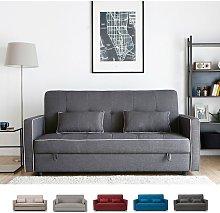 Sofá cama clásico 2 plazas en tejido con