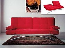 Sofá cama clic-clac ATLANTA II - Rojo