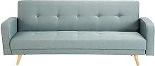 Sofá cama clic-clac de 3 plazas verde agua