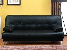Sofá cama clic-clac MAXIME - Piel sintética -