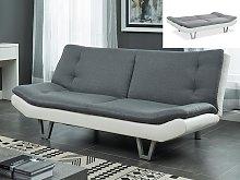 Sofá cama clic-clac UDARA - Gris y blanco
