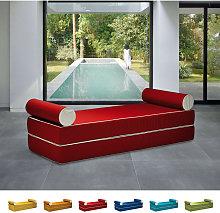 Sofá cama con doble reposabrazos de diseño