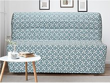 Sofá cama COWBOY 100% algodón azul cielo -