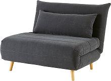 Sofá cama de 1 plaza gris antracita